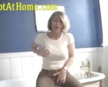 Mature Blonde Amateur Gives A Bathroom Show And Tell