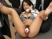 Busty girl Satomi Suzuki gets multiple cocks